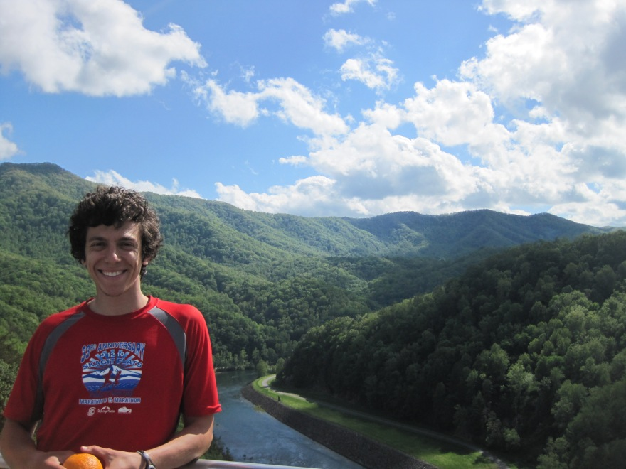 The view from the Fontana Dam gift shop.