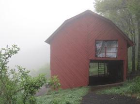 Overmountain Shelter. A bit drafty!
