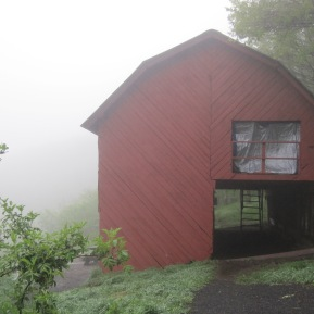 Overmountain Shelter. A bit drafty!