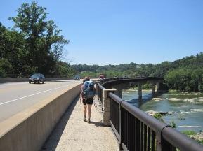 Entering Harper's Ferry, crossing the Shenandoah.