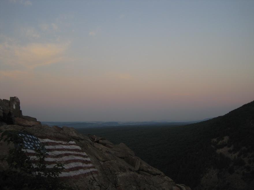 The climb out of Palmerton, PA.