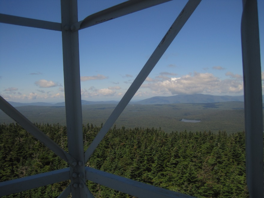 A break in the rain - view from VT fire tower near Manchester.