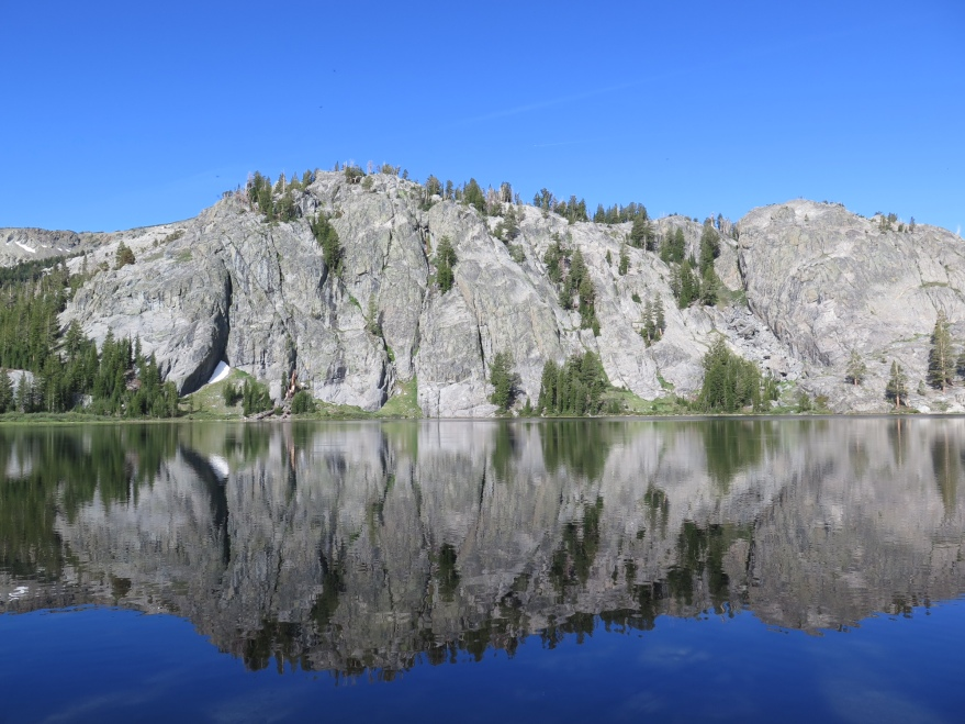 Rosalie Lake, along the JMT near Yosemite.